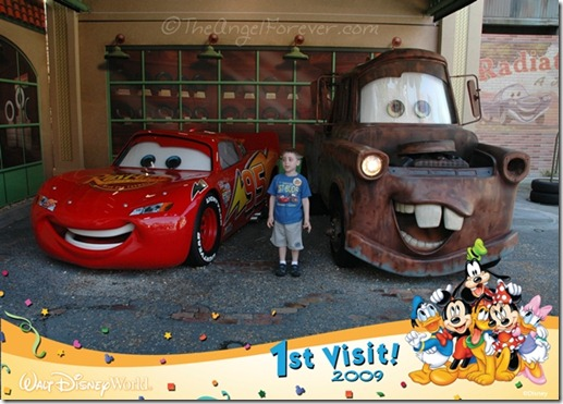 Meeting Lightning McQueen and Mater at Hollywood Studios