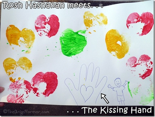Rosh Hashanah art and The Kissing Hand