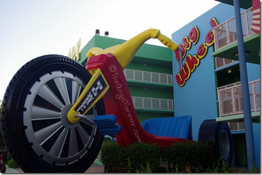 Pop Century Resort Big Wheels Building