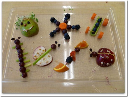 Fruit and Veggie Sculptures
