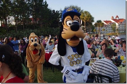 Goofy and Pluto the first night