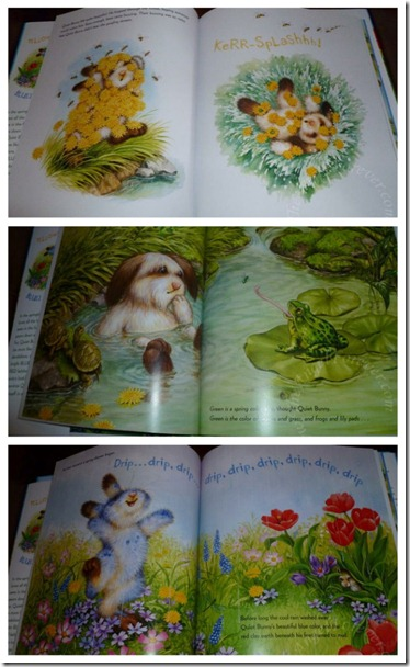 Pages from Quiet Bunny's Many Colors