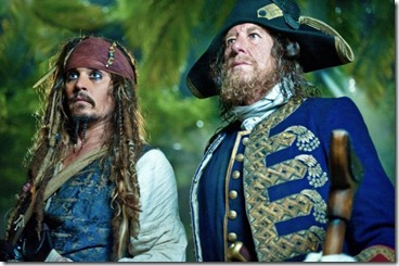 Copyright Disney Enterprises - Captain Jack Sparrow and Captain Barbossa