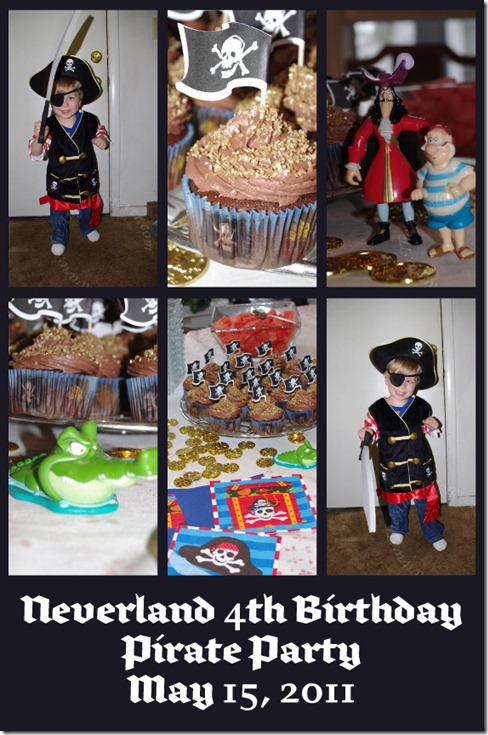 Neverland Pirate Party Collage