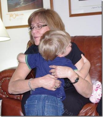 Hugging Aunt S