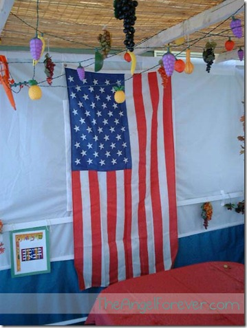 Sukkah decorations post Sept 11, 2001