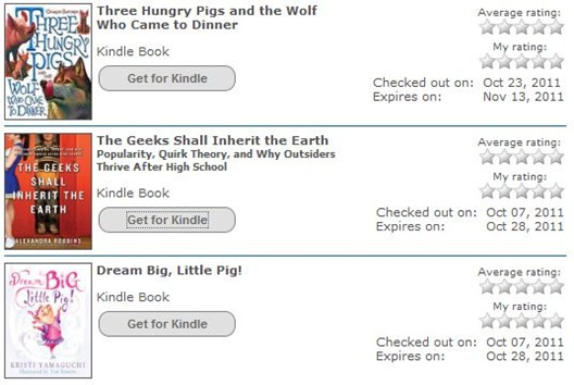 My Kindle Library Loans
