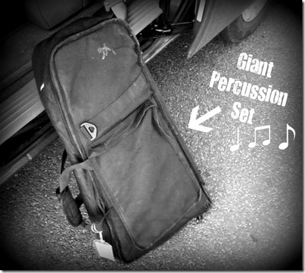 Percussion Set Goes Home