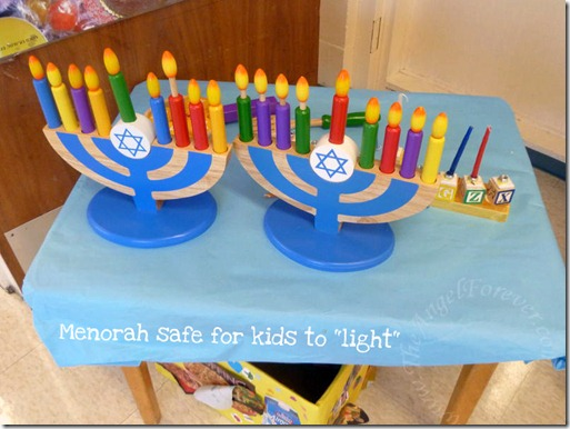 Kid safe menorah