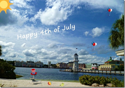 Happy Independence Day on the beach