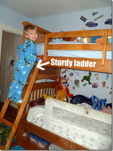 Ladder that can be bolted in