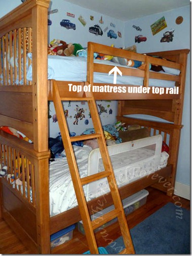 Top bunk safety