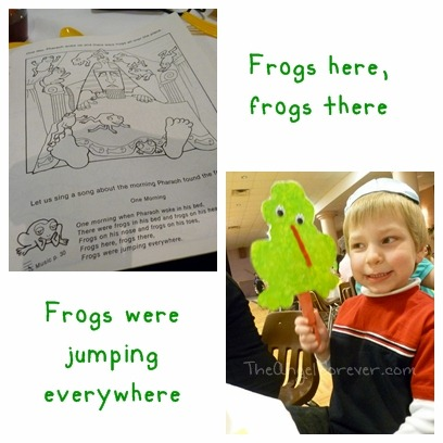 Frogs were jumping