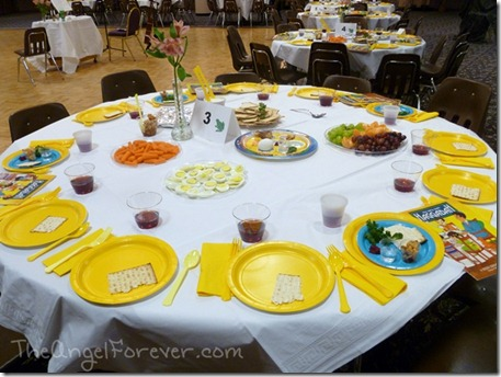 Passover Tables all set