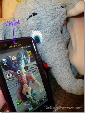 Violet says hello