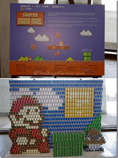 Canstruction - SOUPER MARIO BROS