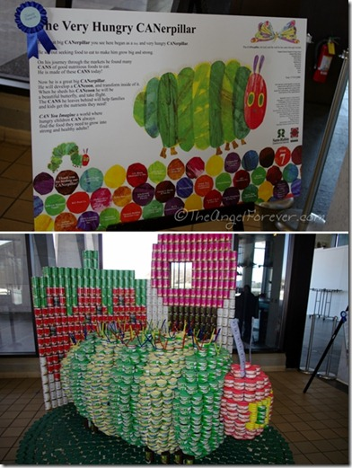 Canstruction - The Very Hungry CANerpillar