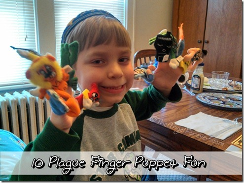 Ten Plague Finger Puppets