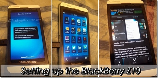 Setting up the BlackBerry Z10