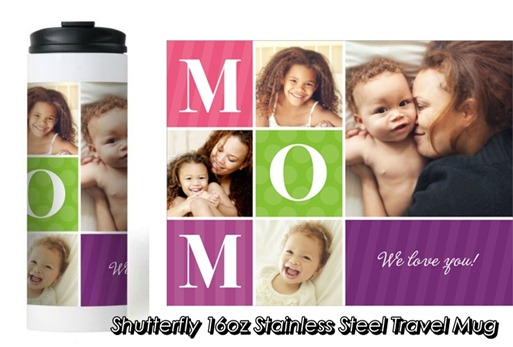 Shutterfly 16oz Stainless Steel Travel Mug