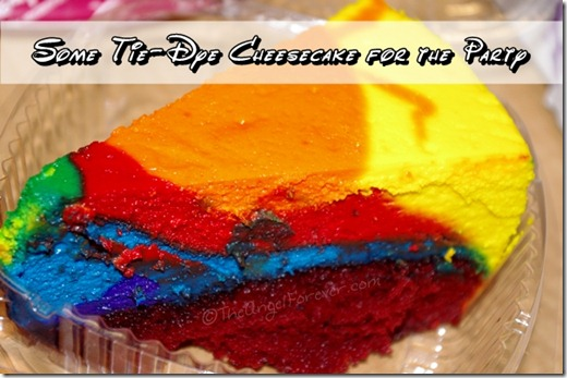 Tie-Dye Cheesecake for the Party