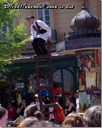 French street performers at Epcot