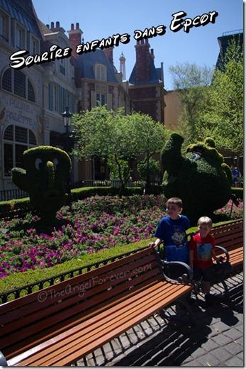 My boys in Epcot at Walt Disney World