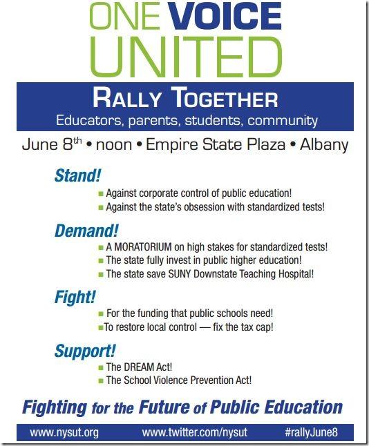 Rally on June 8