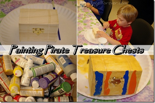 Painting Pirate Treasure Chests