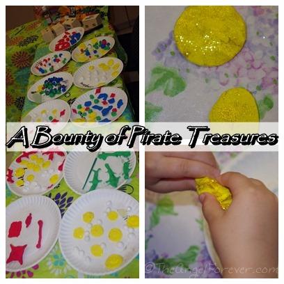 Pirate treasures from Crayola Model Magic