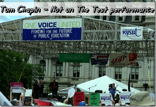 Tom Chapin at the One Voice United Rally 6-8-13