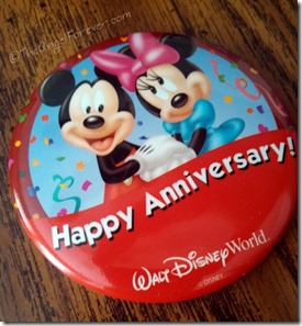 Walt Disney World Anniversary Button