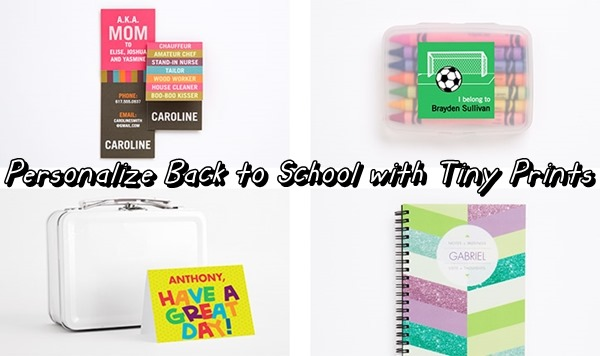 Back to School items with Tiny Prints