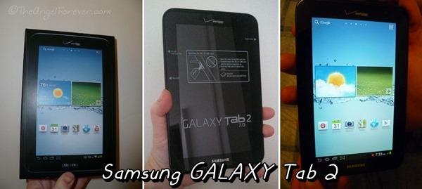The Samsung Galaxy Tab 2 from Verizon