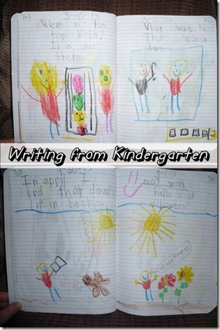 Writing from Kindergarten