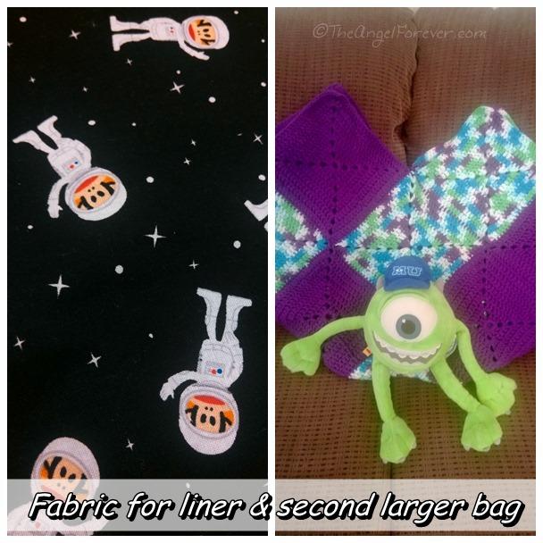 Crochet bag liner and another Inga Bag
