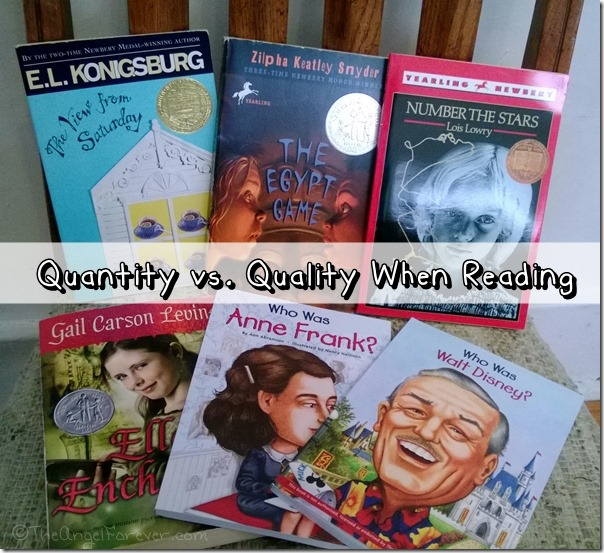 Quantity vs Quality when reading