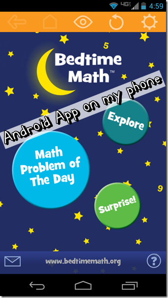 Bedtime Math Android App Screenshot