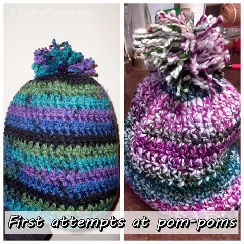First Pom-Poms for hats
