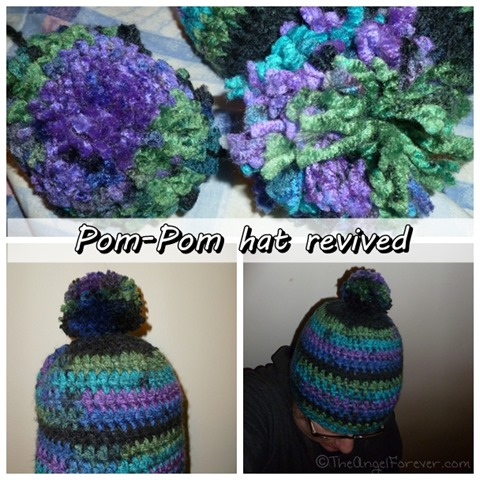 New clover pom-pom on hat