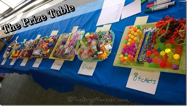 Purim Prize Table
