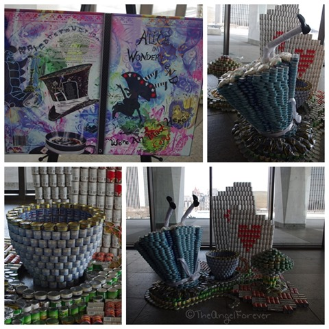 Capital Region Canstruction - Alice in Wonderland