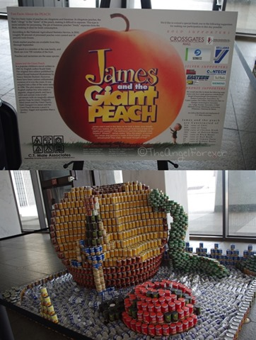 Capital Region Canstruction - James and the Giant Peach