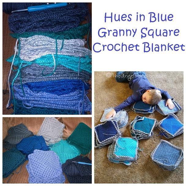 Hues of Blue Crochet Blanket | The Angel Forever