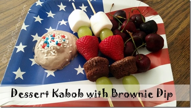 Dessert Kabob with Brownie Dip