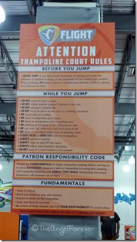 Flight Trampoline Park Rules