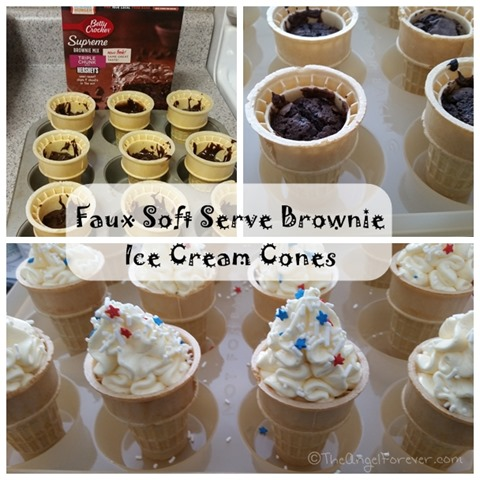 Making the Faux Soft Serve Brownie Ice Cream Cones