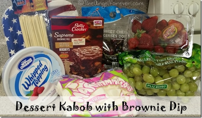 Supplies for Dessert Kabob with Brownie Dip