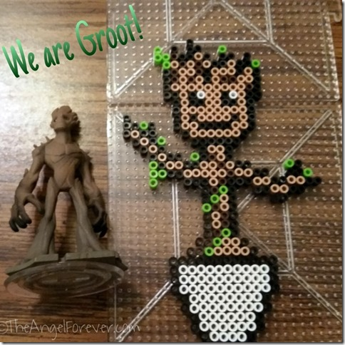 We Are Groot - Perler Beads and Disney Infinity 2