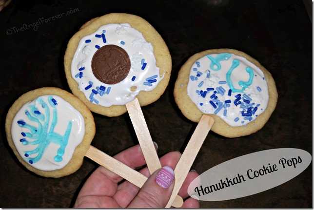 Hanukkah Cookie Pops